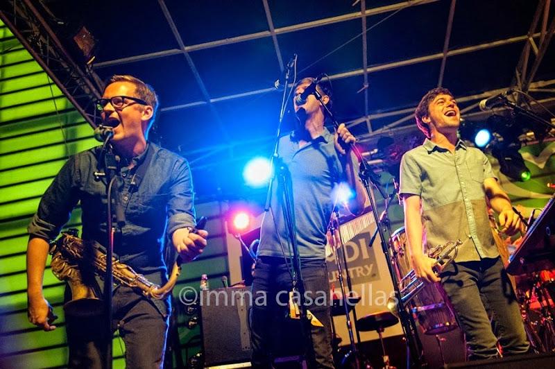 Chris Bullock, Mike Maher i Justin Stanton dels Snarky Puppy, Donostia-San Sebastián 2014