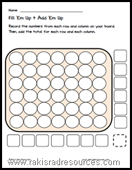 Use Connect 4 to teach math with this free printable sheet.