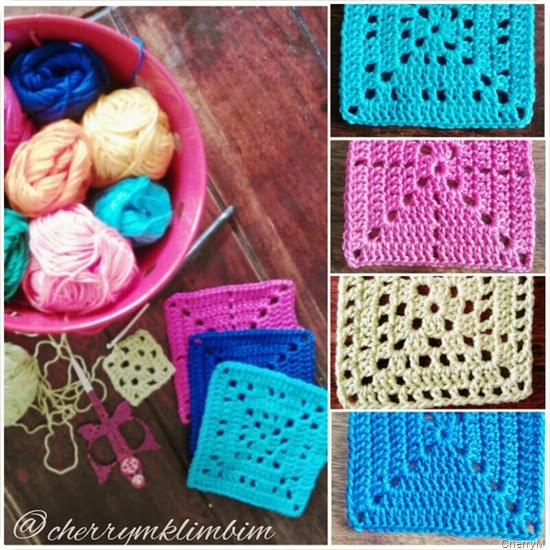 solid granny squares crochet instructions