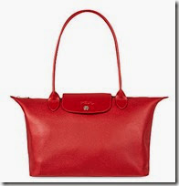 Le Foulonne Red Leather Tote