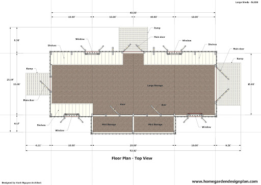 1 gambrel shed plans 16x16 56762 corionaery for Storage building floor plans