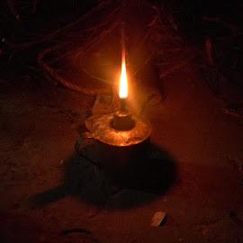 fire case by Praveen Kumar - Abstract Fire & Fireworks ( light stand, village, dark, fire case, light, fire )
