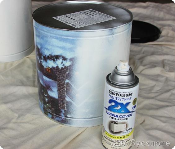light coats of spray paint