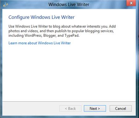 Configure Live Writer