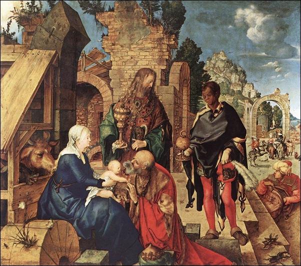 Albrecht Dûrer, Adoration des Mages 1504