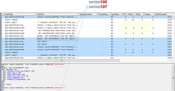 SQL Profiler- Sequential ID