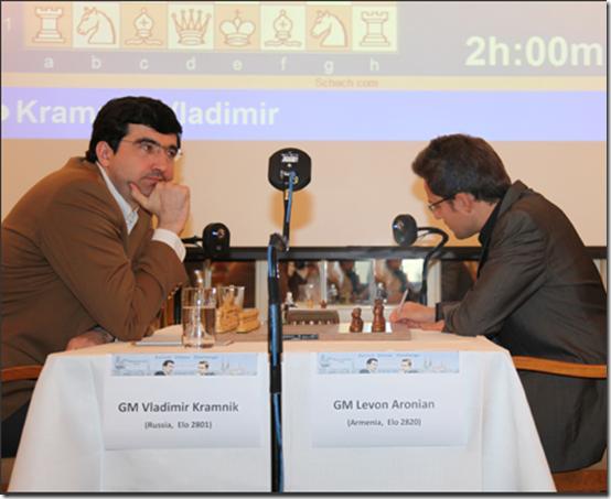 Kramnik - Aronian, Round 5, Zurich Chess Challenge 2012