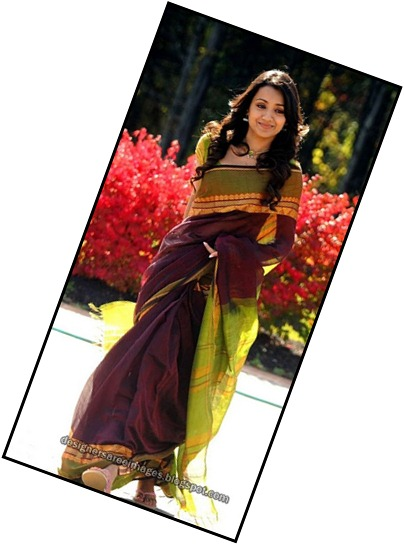 trisha-silk-saree Vinnai Thandi Varuvaya