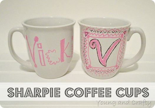 Sharpie Coffee Cups