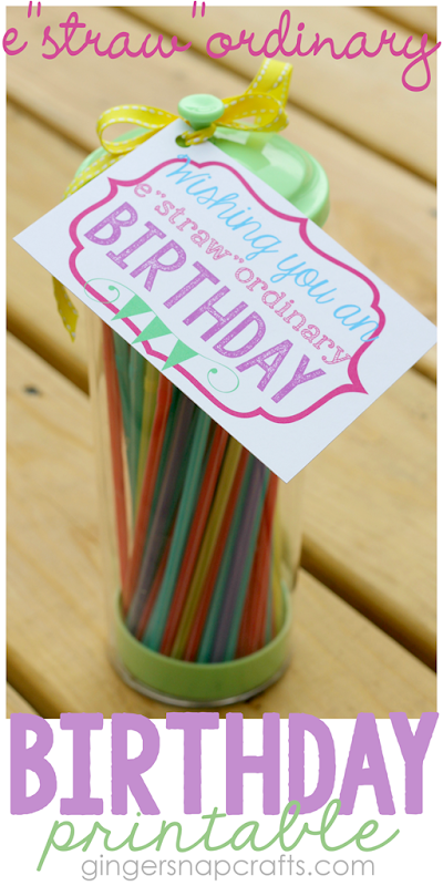 Estrawordinary Birthday Printable at GingerSnapCrafts.com #printable #birthday #giftidea