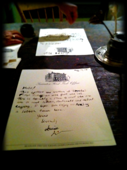 Letter written with Quill and Ink