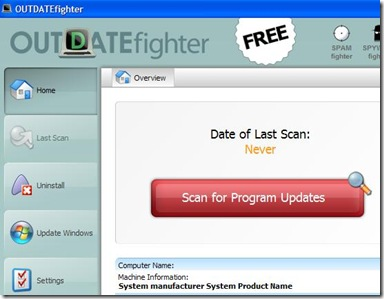 OUTDATEfighter cercare aggiornamenti programmi PC