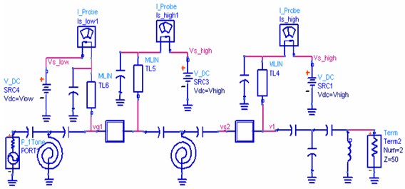 Schematic of the dual-mode power amplifier