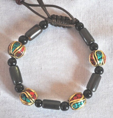 Fashion Bracelets with metal beads and string