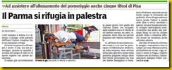 PARMA SI RIFUGIA IN PALESTRA GDP