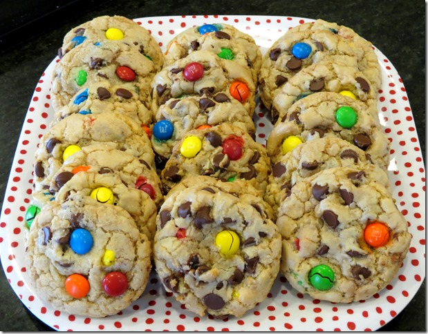 Saucepan M&M Cookies