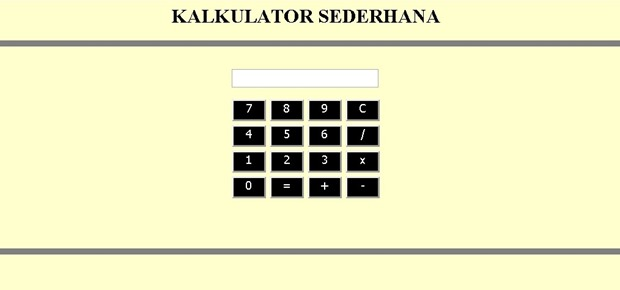 Source Code Kalkulator Sederhana dengan JavaScript Versi 2