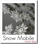 snowflake ornament mobile