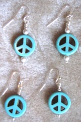 Earrings 9.1.11 Peace symbol 2 prs