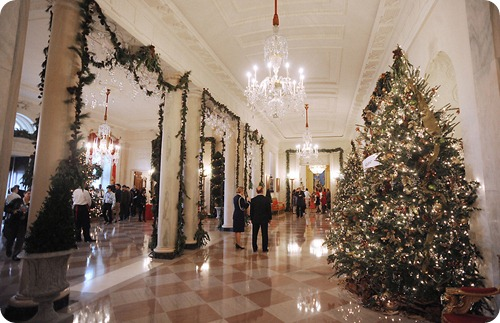 White House Grand Foyer Christmas