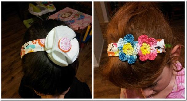 fabric headband Collage