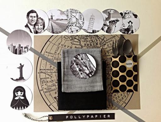 Sous-verres-Pollypapier