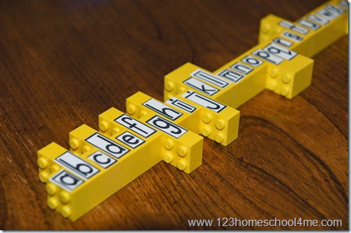 Hands on Spelling Practice with Lego (perfect for fun homeschool spelling tests too)