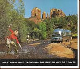 lady fishing airstream
