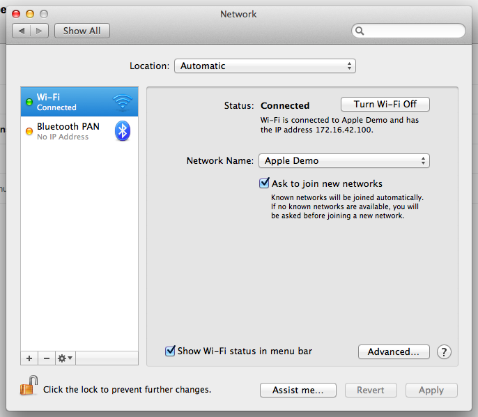 Viewing network properties in Mac OSX