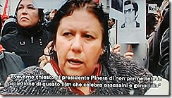 Manifestantes contra homenagem a Pinochet.Jun 2012