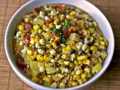 Corn, Tomato and Potato Curry