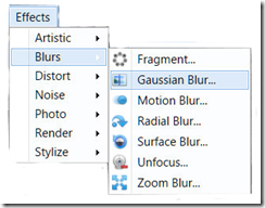 Paint.NET  Menu Item Effects/Blur/Gausian Blur