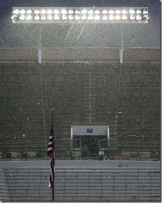ND stadium rain