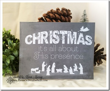Christmas presence card www.papercraftmemories.com