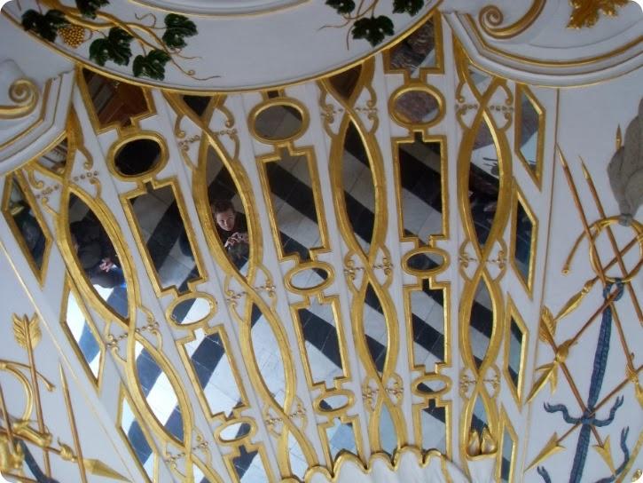 Detalje af loftet i Eremitageslottet