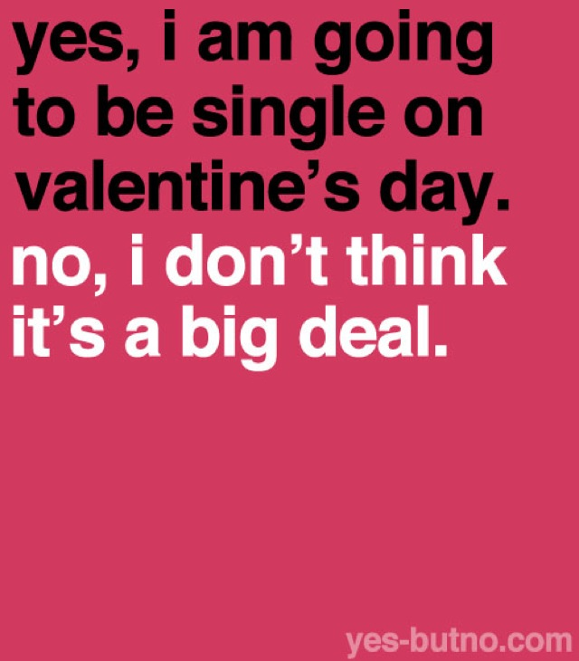 Single on valentine s day