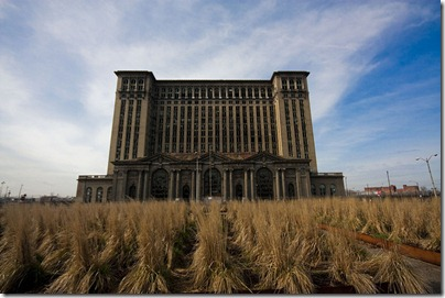 through the fields to michigan central station detroit