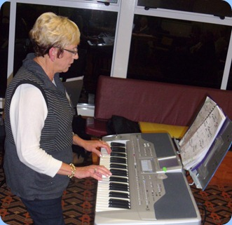 Jan Johnston came down from Algies Bay to play for us on her lovely Korg Pa1X. Loved the steel guitar sound used on 'Sleepwalk'!
