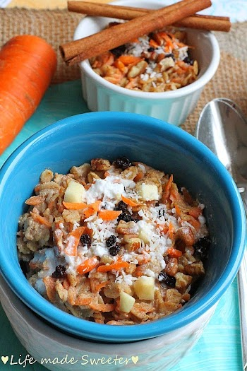 Coconut Carrot Cake Oatmeal - Life made Sweeter 3.jpg