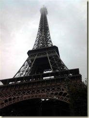 Eiffel Tower foggy at top (Small)