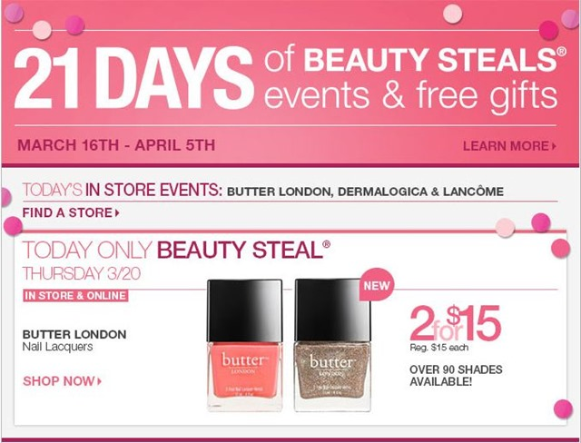 PSA:  butter LONDON 2 for $15 at ULTA (Today Only!)