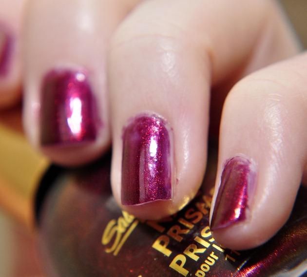 sally hansen nail prisms ruby emerald nail polish notd autumn nails