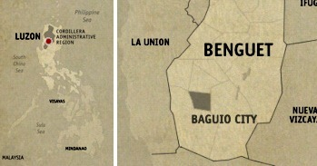 Baguio Location Map