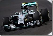 Rosberg nelle prove libere del gran premio del Brasile 2014