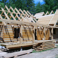 EcoLog Home roof construction