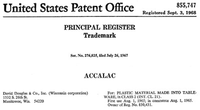 Accalac registered trademark