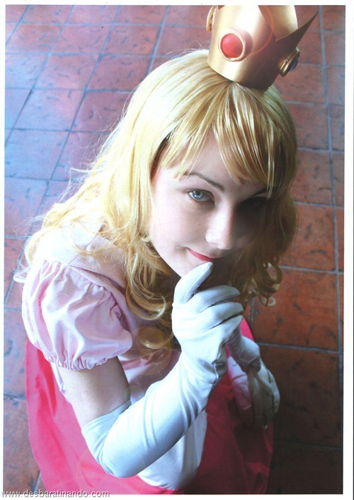 princesa peach cosplay Princess Peach cosplya desbaratianndo (2)