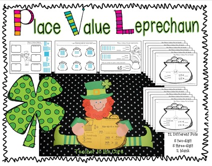 Place Value Leprechaun cover