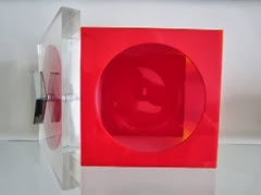 Acrylic box in the style of Verner Panton