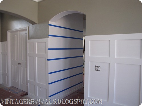 DIY Striped Chevron Wall Treatment 392